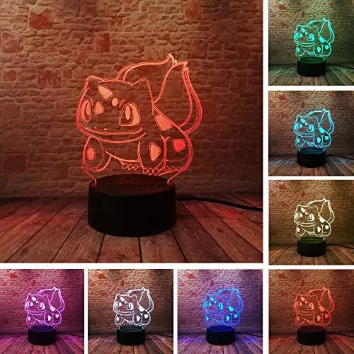 Anime 3D Pokemon Go Action Figur Pikachu Eevee Kleine Feuer Drachen Pokeball Bulbasaur Nacht Licht Kinder Xmas Urlaub Geschenke