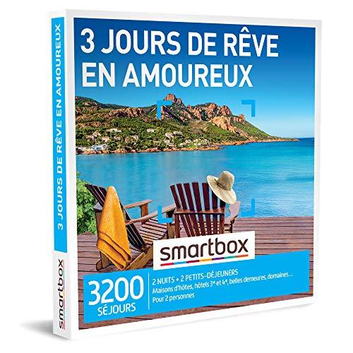 SMARTBOX - Coffret Cadeau couple - 3 jours de rêve en amoureux - idée cadeau - 3200...