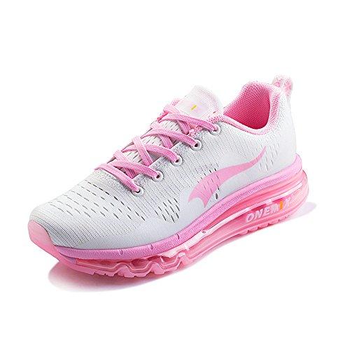 Onemix all'aperto Air Uomo Donna Scarpe da Ginnastica Corsa Sportive Running Sneakers Fitness Interior Casual all'Aperto Rosa