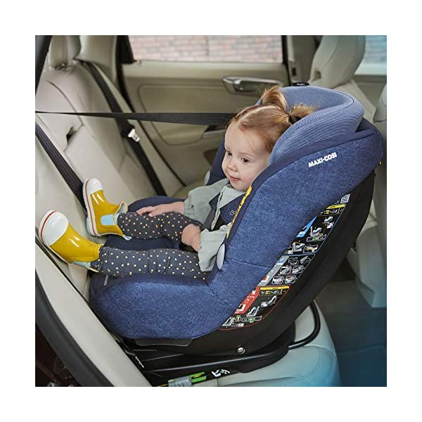 Maxi-Cosi MiloFix ISOFIX Combination Car Seat, Group 0+/1 car seat, Rear and Forward-facing, 0-4 years, 0-18 kg, Vivid Red Maxi-Cosi Rear and forward facing group 0+/1 car seat, suitable from birth to 18 kg (birth to 4 years) i-Size car seat, extended rearward-facing travel up until 18 months Padded seat and angled base provide additional leg room in rear-facing position 8