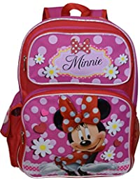 "Disney Girl's Minnie Mouse 16"" Deluxe School Bag Backpack"