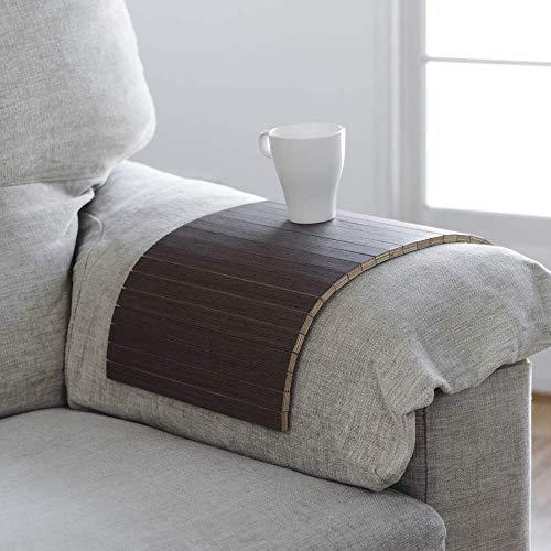 Tablett, das dem Arm Ihres Sofas, sessel oder den meisten instabilen Oberflächen anpasst, wenge Finish, Ideal für ein Geschenk - Kirsche Wohnzimmer Beistelltisch