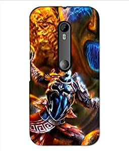 Crazymonk Premium Digital Printed 3D Back Cover For Moto G3