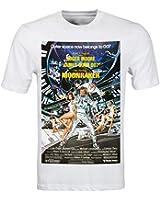 James Bond 007 Retro Moonraker Movie Poster T Shirt (S-3XL) DVD Roger Moore