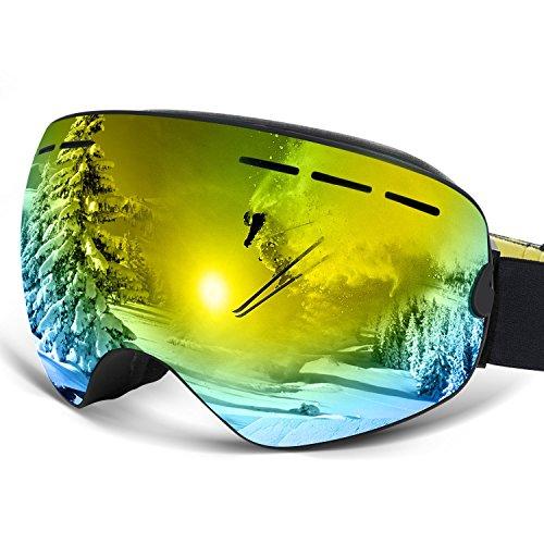 Vitalismo Skibrille Snowboardbrille mit wechselgläser UV400 Schutz Anti-Fog Brille sphärische Linse für Skifahren Snowboarden Skaten