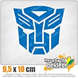KIWISTAR Transformers Emblem 10 x 9,5 cm IN 15 FARBEN - Neon + Chrom! Sticker Aufkleber