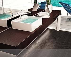 Mobile arredo bagno piano mensola per lavabo d 39 appoggio - Arredo bagno amazon ...