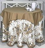 INUSUAL Falda o Ropa de Camilla Redonda Verano 90x75 y a Medida, Modelo Violeta (Floral Camel)