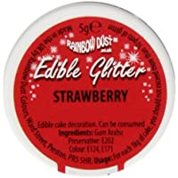 Strawberry Red Edible Glitter