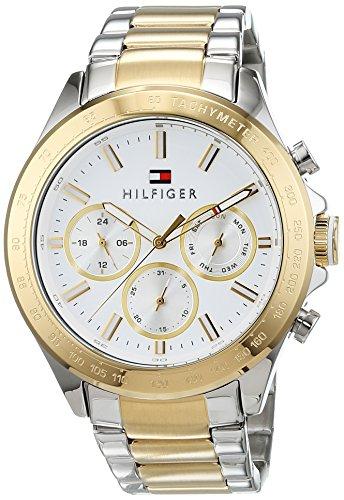 Tommy Hilfiger Herren Multi Zifferblatt Quarz Uhr mit Edelstahl Armband 1791226