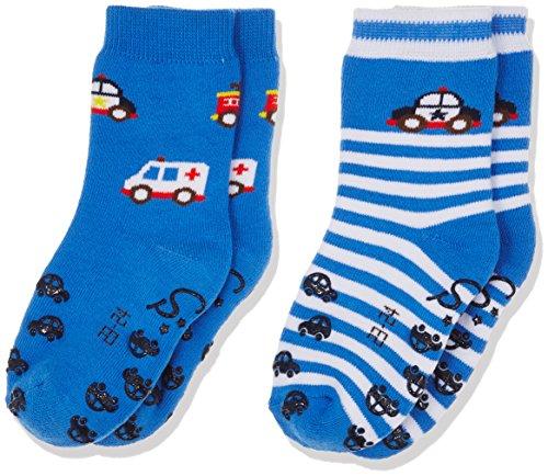 Sterntaler Jungen Socken Abs-Krabbelsöckchen DP Rettung, Blau (Enzian 377), 24