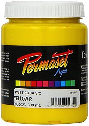 Permaset Aqua Supercover 300ml Fabric Printing Ink - Yellow