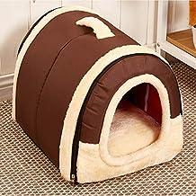 WWSSXX Casa De La Cama para Mascotas, 2-En-1 Acogedora Casa para