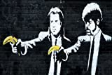 Banksy - Affiche humoristique - Thème : Pulp Fiction - Dimensions approximatives : 59,4 cm X 42 cm