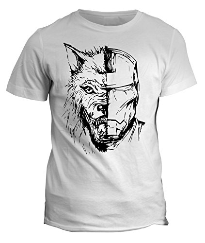 Tshirt Iron Man - Wolf Stark Jon Snow - Game of Thrones - in cotone by Fashwork