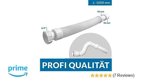 Mc Alpine Flex-Ablaufschlauch Länge 1000 mm 6//4 x 40//50mm