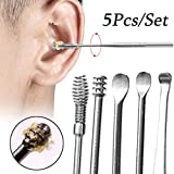 5pcs Professional Ear Tool Sets Curette Ear Pick Wax Remover Ear Cleaning