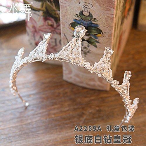 Diamond Krone, Krone Perlen, White Diamond Tiara, Prinzessin barrette, Hochzeit Krone, Hochzeit Zubehör, Geschenkbox, White Diamond (Prinzessin Ariel Tiara)
