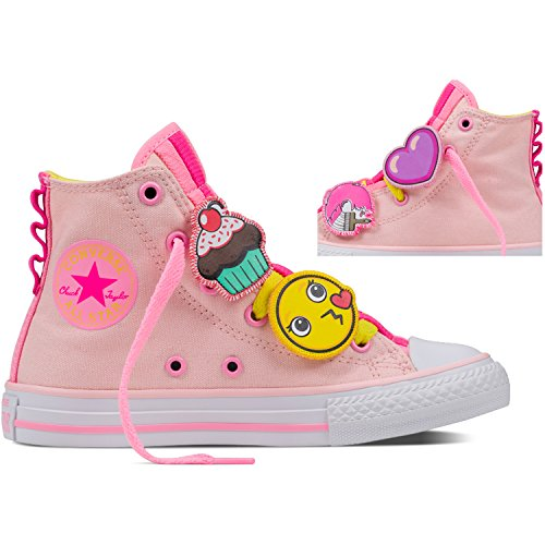 Converse All Star Loopholes, Chaussons montants mixte enfant Mehrfarbig (Vaper Pink/Fresa Yellow/White)