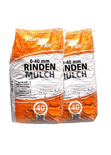 Humoflor 2 x Rindenmulch 0-40 mm a 40 L = 80 Liter