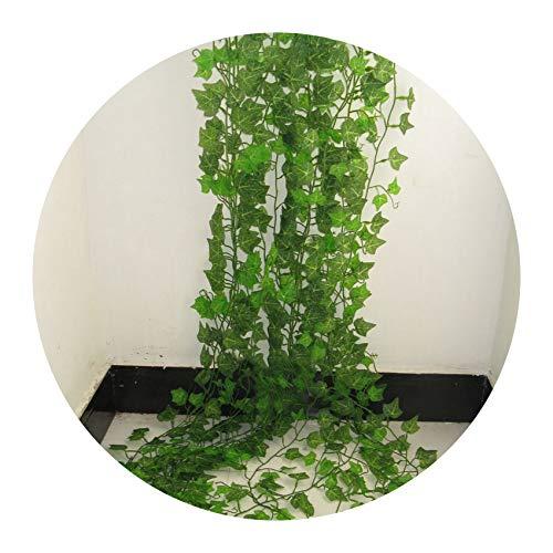 Fox rain-artificial-flowers Künstliche grüne Blättergirlande, künstliche Blumen, Rattan, 2,4 m, Farbe, Größe - Fox Hybrid