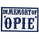 "In Memory of Opie outlaw anarchy MC biker patch (3""x2"") Navy Blue"