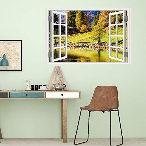 Yazidan Wandaufkleber Fenster Landschaft Wandaufkleber Farbenreiche Landschafts Landschafts falsche Landschaftsbild Wand Abziehbilder der Farben 3D