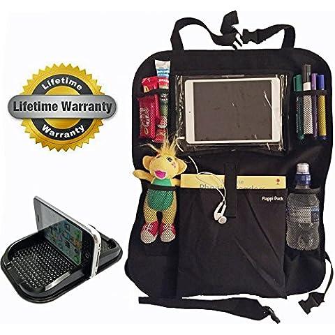 Organizador de Siento de Coche | Protector | Deposito de juguetes | Soporte para Tablet | Soporte para tablero Gratis