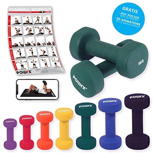 Neopren Hanteln Gewichte für Gymnastik Kurzhanteln 0,5 kg - 5 kg oder Set komplett (2 x 3 kg)