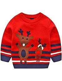 55e2e0b12b7 POLP Niño Invierno Unisex Camiseta de Manga Larga para niños Otoño Invierno  Bebe Niña Pulóver Camisa