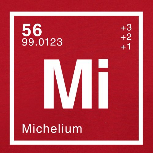 Michel Periodensystem - Herren T-Shirt - 13 Farben Rot