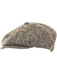Universal Textiles Mens Wool Blend 8 Panel newsboy Cap