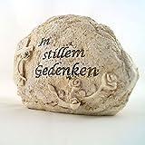 Grabschmuck Stein (Polystone) 15 cm Kreuz In stillem Gedenken (60166)