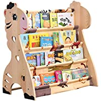 Children\'s bookshelf Estante para Niños Dibujos Animados Estante De Piso De Madera Kinder Estante De Escuela Primaria Estante De Almacenamiento Seguridad Fácil De Organizar El Espacio