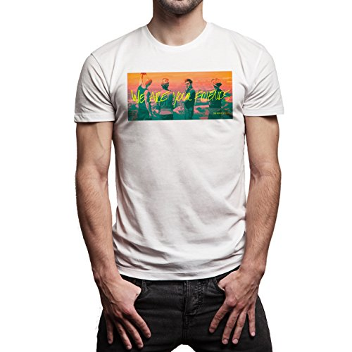 We Are Your Friends Movie Summer WAYF Hot World Is Ours Fire Edition Background Herren T-Shirt Weiß