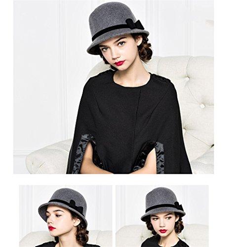 Automne et hiver femme élégante mode rétro chapeau bowknot belle chaude ( couleur : # 2 ) # 3