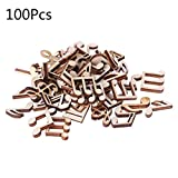 Yangfr Lot de 100disques en bois découpé au laser Bois Note de musique en forme de décoration en bois Craft Mariage