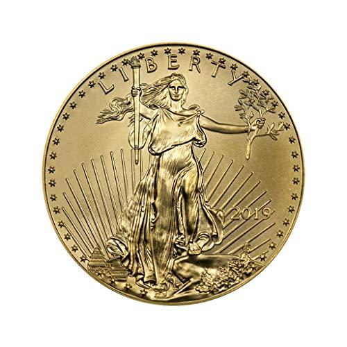 bluestercool_1 Amerikanische Steinadler Gedenkmünze, 2019 1 Unze American Gold Eagle Vereinigte Staaten von Amweica GedenkmünzenI -