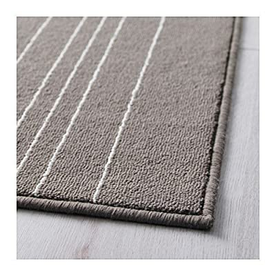 IKEA HULSIG - Rug, low pile, grey - 120x180 cm produced by IKEA - quick delivery from UK.