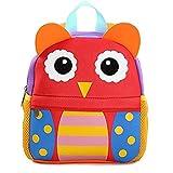 Yeelan Bolsa de escuela impermeable / mochila para niños(Búho de gran tamaño)