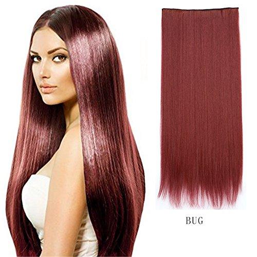 XY Fancy Damen Herren Keine Spur Haarverlängerung langen glatten Haarteil Perücke Stück, BUG (Poison Ivy Kostüme Perücke)