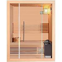 Sauna clásica Stavanger II con horno Harvia, sauna finlandesa de 4500W con luz y accesorios adicionales