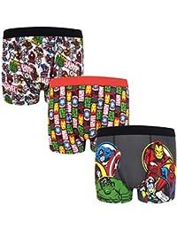 9dd12e5b754592 Marvel Avengers Assemble Hulk Iron Man Official Gift 3 Pack Boys Boxer  Shorts