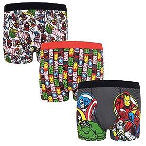 51nTcuJ338L. SS300  - Marvel - Pack de 3 calzoncillos oficiales de estilo bóxer - Para niños - «Los vengadores», Hulk, Iron Man