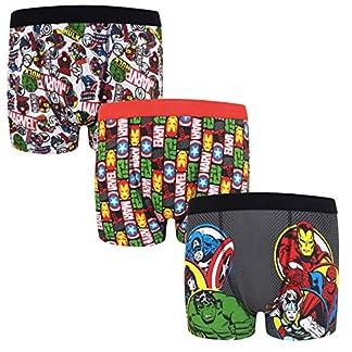 Marvel – Pack de 3 calzoncillos oficiales de estilo bóxer – Para niños – «Los vengadores», Hulk, Iron Man