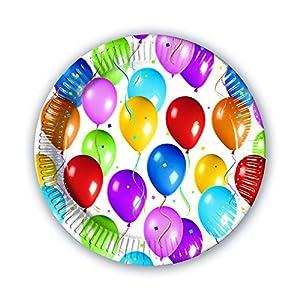 Procos 02356-Platos Papel Balloons Fiesta, Multicolor