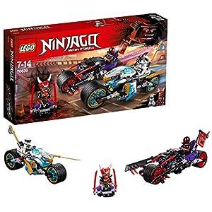 LEGO- Ninjago Gara su Strada del GiaguaroSerpente, Multicolore, 70639  LEGO