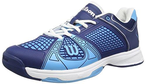 Wilson - Rush Ngx, Scarpe Da Tennis da uomo, multicolore (maritime blue wil/marine navy wil/w), 42 2/3