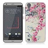 HTC Desire 530 Hülle, Fubaoda 3D Erleichterung Schöne Blume Muster TPU Case Schutzhülle Silikon Case für HTC Desire 530
