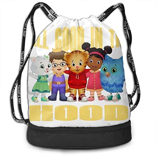 Rucksäcke,Sporttaschen,Turnbeutel,Daypacks, Daniel Tiger's Neighborhood Drawstring Bag Bundle Backpack Travel Backpack for Teens College